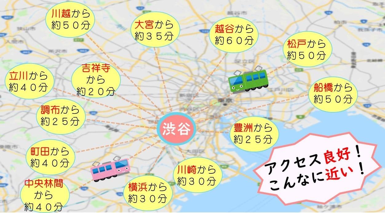 渋谷文化村通りレディスクリニックへの地図